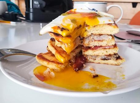 Savory Pancake Breakfast Stack