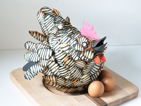 Chicken Cookie Sculpture