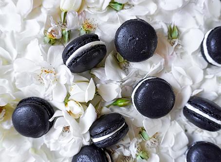 Black Velvet Macarons