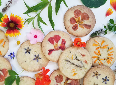 Lemon Verbena and Chamomile Shortbread Cookies