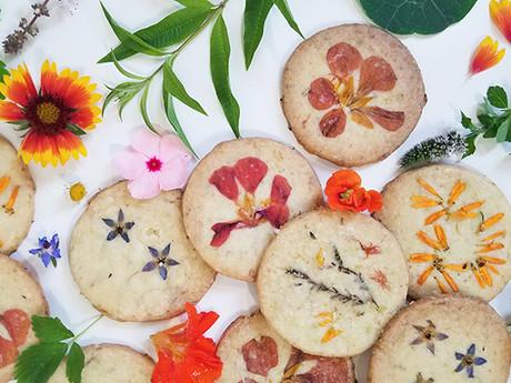 Lemon Verbena and Chamomile Shortbread Cookies