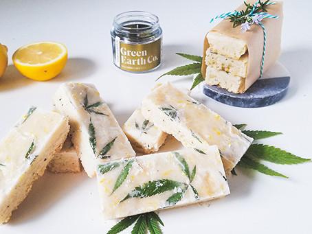 Cannabis Lemon Rosemary Shortbread Bars