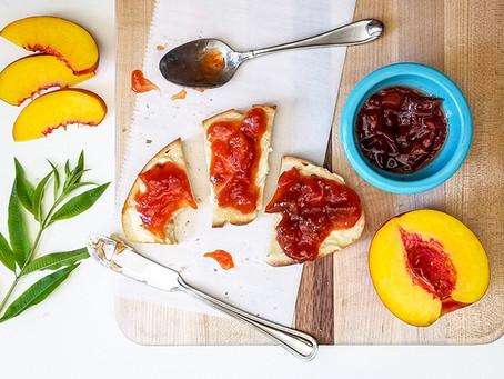 Nectarine Lemon Verbena Jam