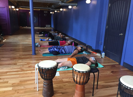 """Yoga and Drumming"" workshop"