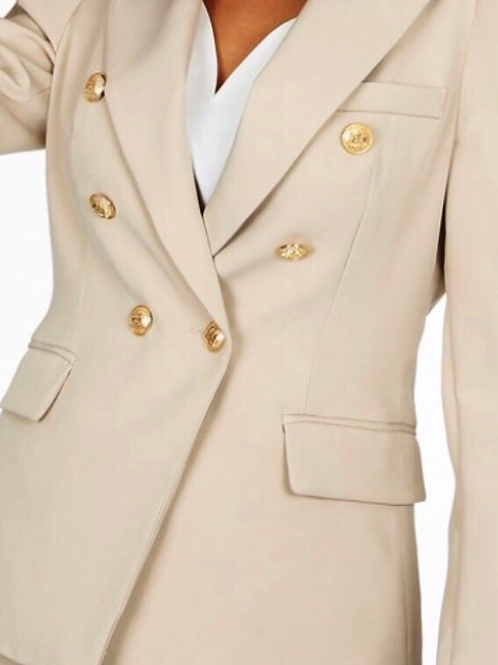 Beige double breast blazer