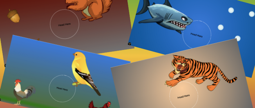 Zoom Virtual Backgrounds Funny Animals - 4 Pack
