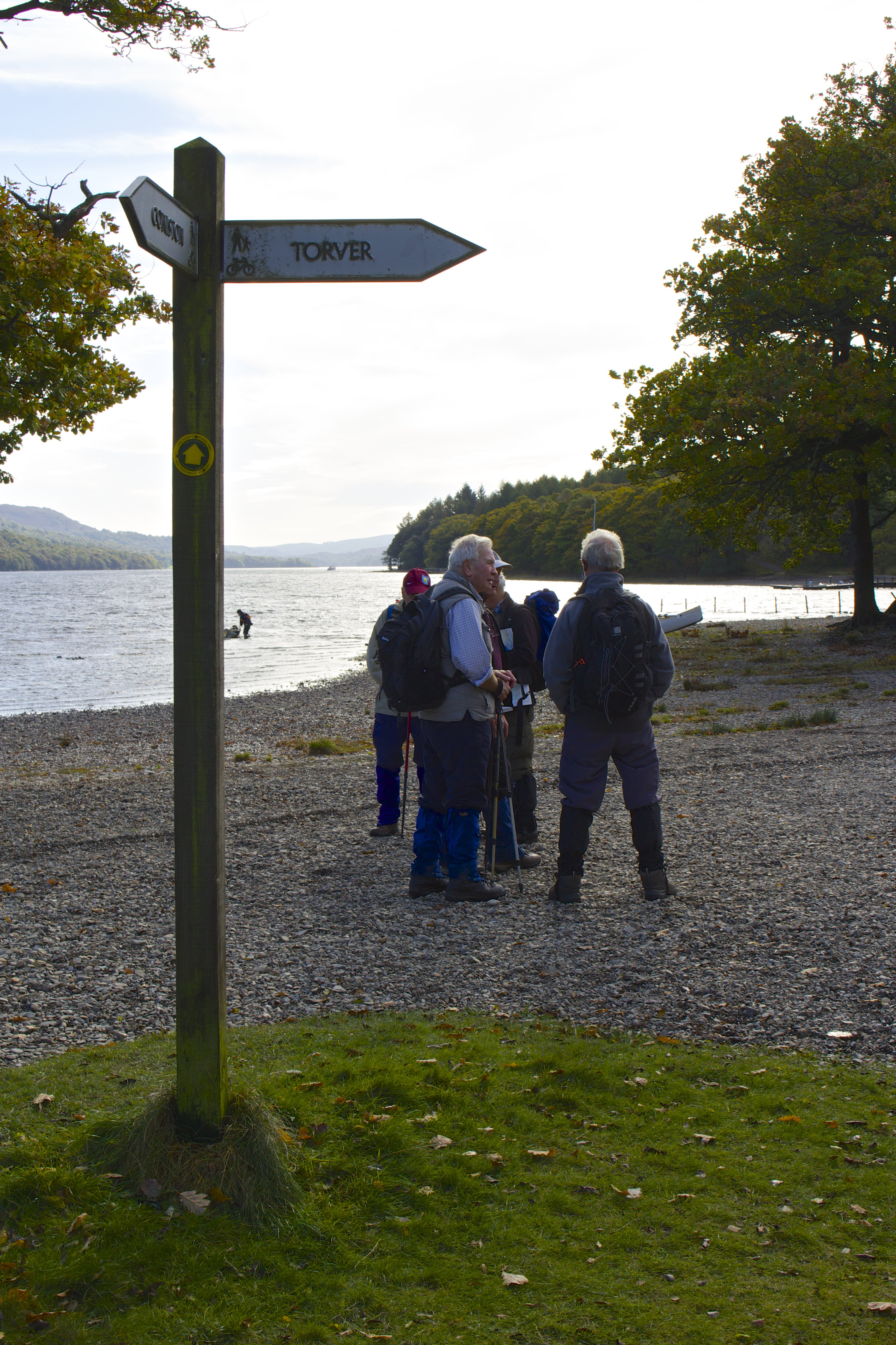 Walkers on Coniston footpath
