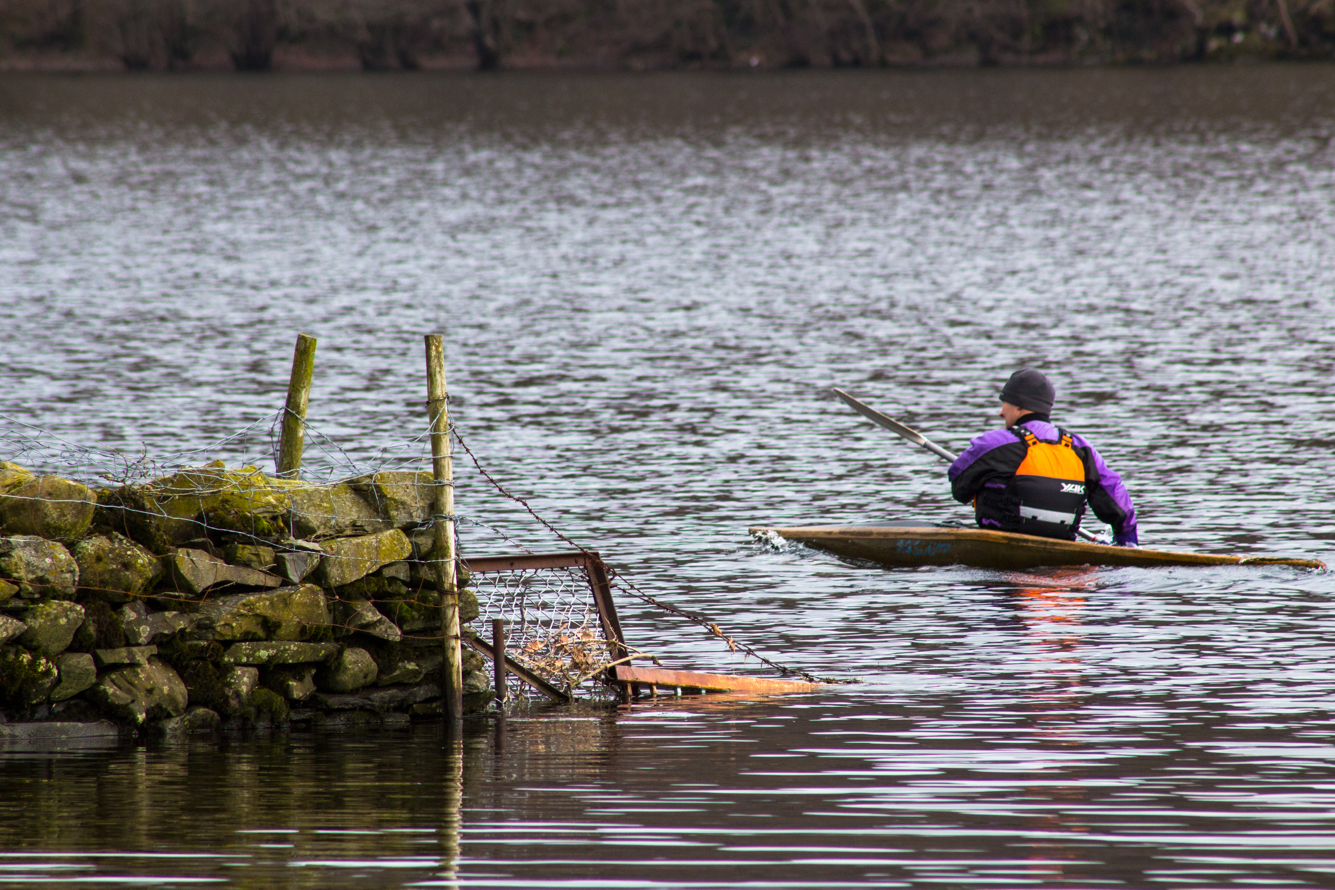 kayaking on Coniston water