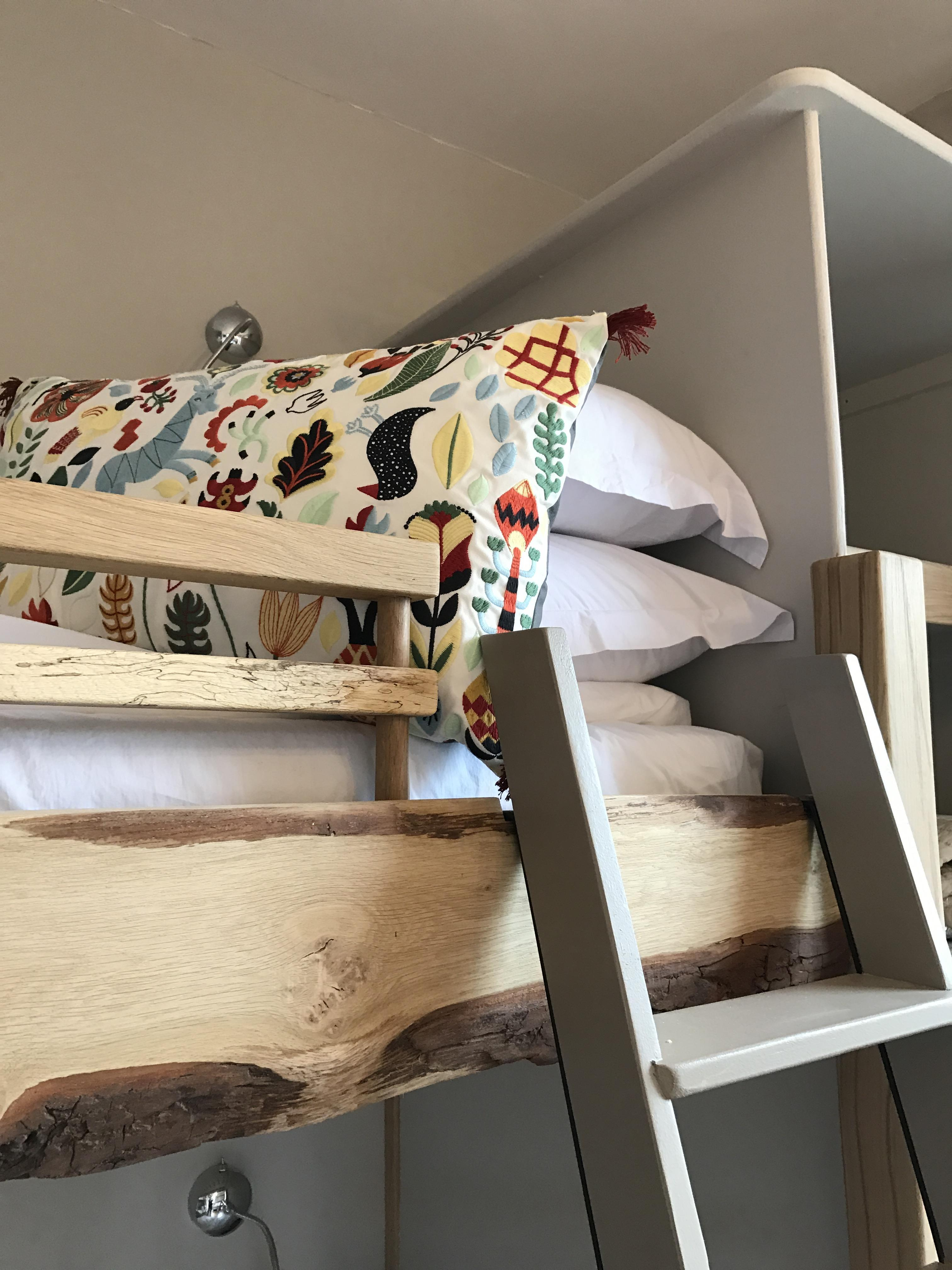 ladder and pillow