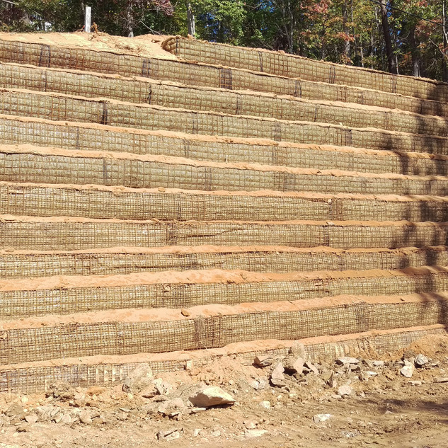 Wire Basket Retaining Wall
