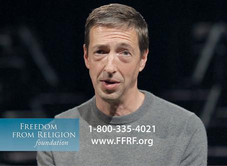 Momento favorito de los izquezistas:comercial del ateo Ron Reagan Riendo mientras habla del infierno