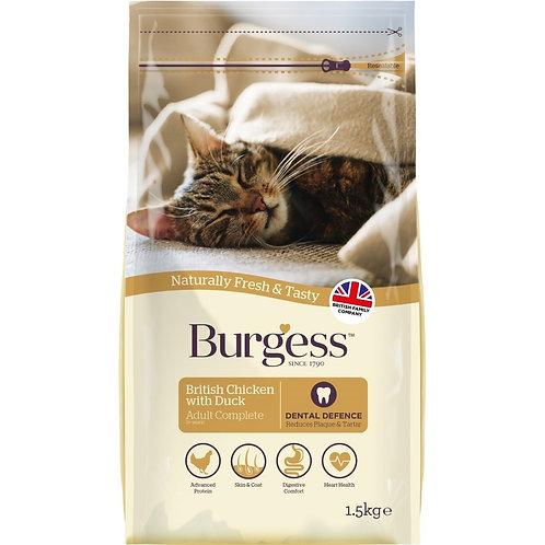 Burgess Cat Adult Chicken & Duck 1.5kg