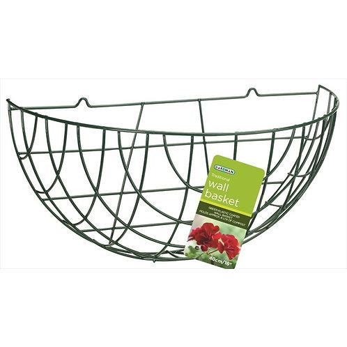 "Gardman Wall Wire Green Basket 16"""