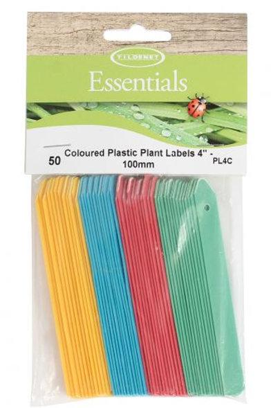 """Plant Labels 4"""" Coloured"""