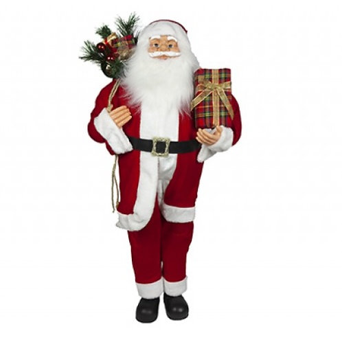 110cm Luxury Standing Red Suit Santa Decoration
