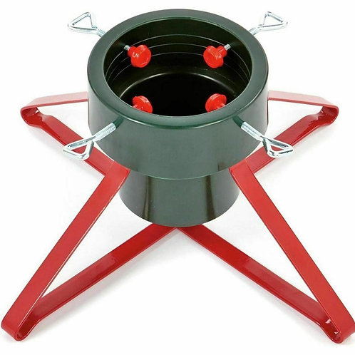 Premier Real Tree Stand Metal Green & Red