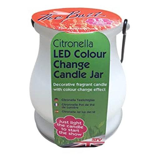 Citronella Colour Change Candle jar