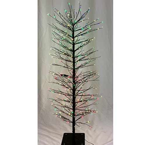 1.5m Black Twig Tree With 640 Flash All Round Sculpt LEDs