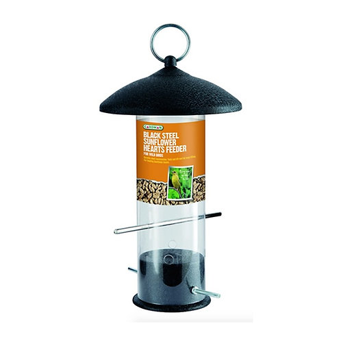 Black Steel Sunflower Hearts Feeder