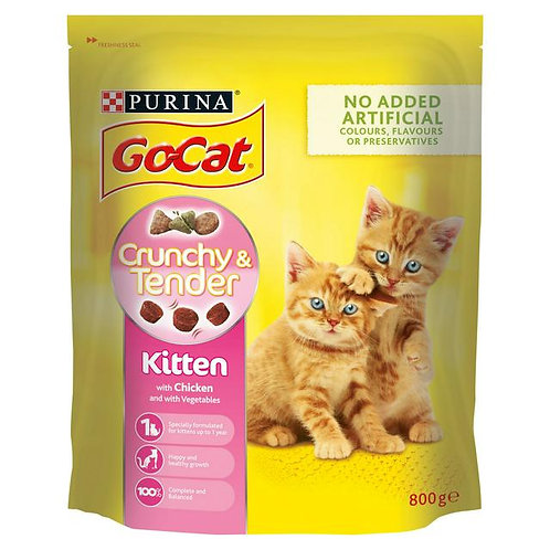 Purina Go Cat Kitten Crunchy & Tender With Chicken 800g