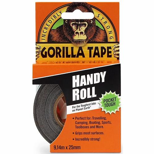 Gorilla Tape Handy Roll 9.14m x 25mm Black