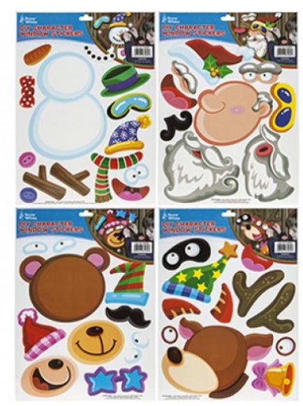 DIY Christmas Character Window Stickers