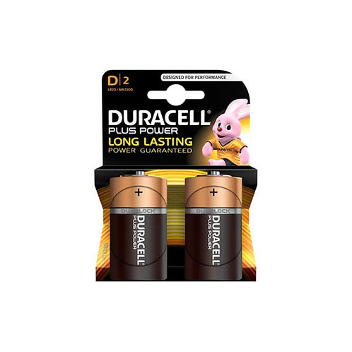 Duracell Plus Power D2 1.5V x2 Batterry
