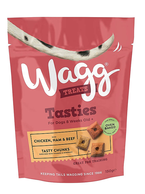 Wagg Tasty Chunks 150g Chicken, Ham & Beef