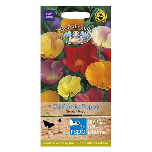 Mr Fothergills Seed Californian Poppy Single Mixed