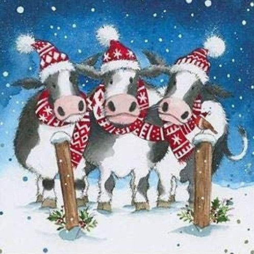 16 Christmas Cards - Farmyard Capers
