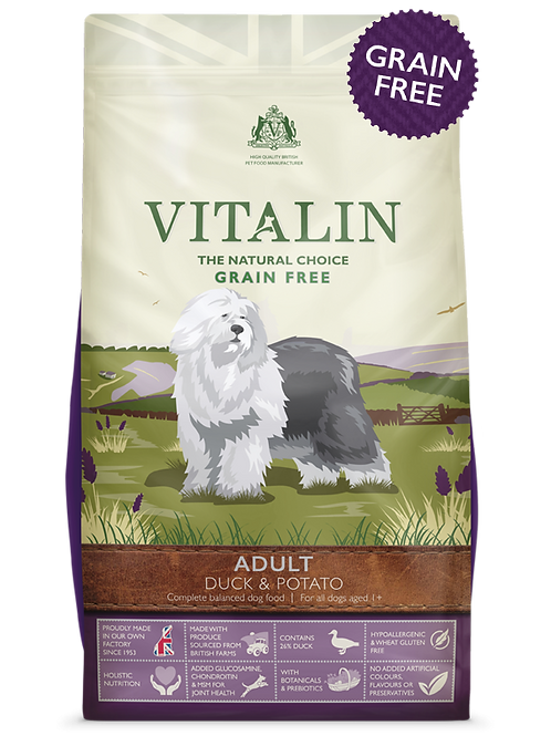 Vitalin Adult Grain Free Duck & Potato 2kg