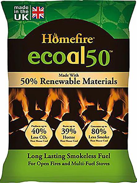 ECoal 50 Smokeless Coal 10kg