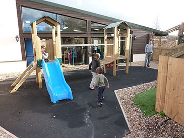 Waterside cafe at Bow Garden Centre free outdoor play area