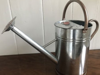 Vintage Copper Trim Watering Can 9L