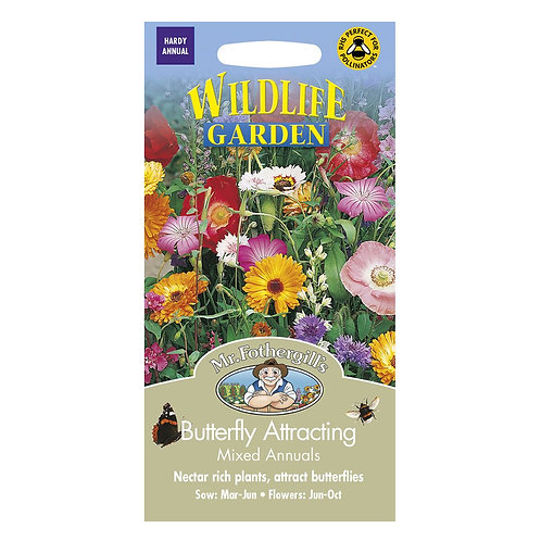 Mr Fothergills Seeds WF Mixed Butterfly Attracting Annuals