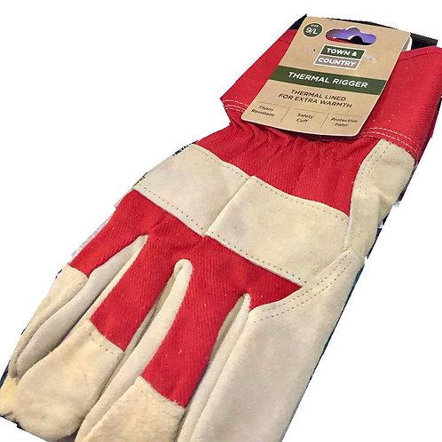 Town & Country Classic Thermal Rigger Gloves Size L 9-10