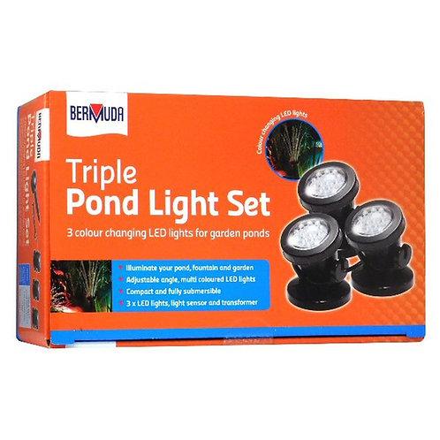 Bermuda Triple Pond Light Set
