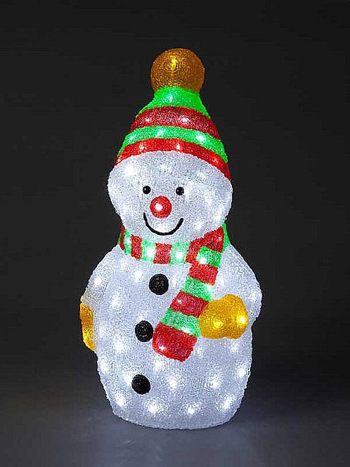 58cm Snowman With 96 Ice White LEDs