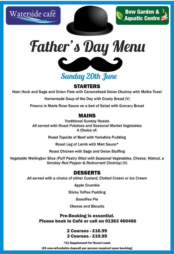 fathers day menu 2021