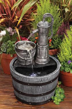 Barrel & Pump Water Feature