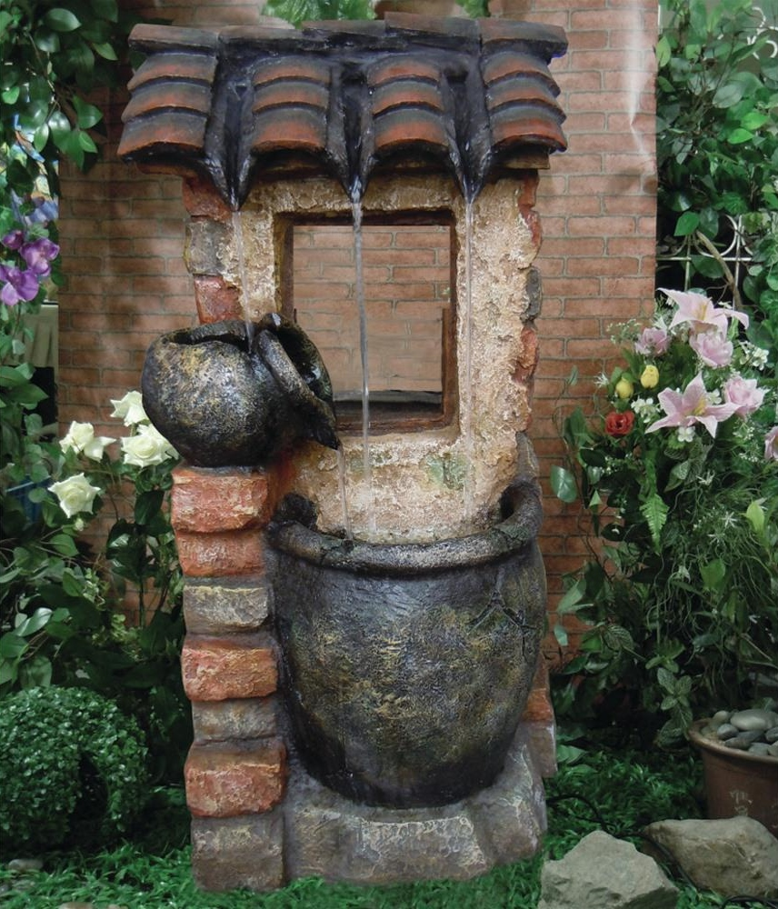 2 Urn Country Cottage Water Feature