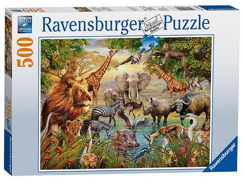 Ravensburger Majestic Wateringhole 500 Piece Puzzle