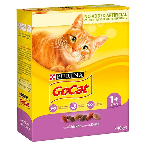 Purina Go Cat Chicken & Duck 340g