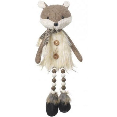 50cm Fox With Dangly Legs And Fur Jumper