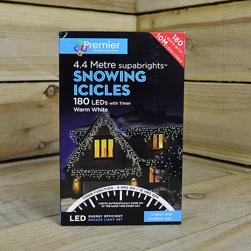 Premier LED Snowing Icicles With Timer
