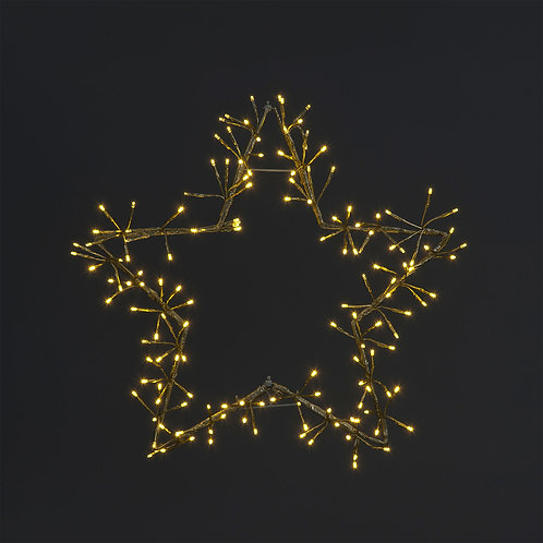 60cm Foldable Champagne Gold Star Light With 150 Warm White LEDs