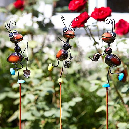 Fun Decorative Stakes - ants, butterflies, owl, frog, ladybird