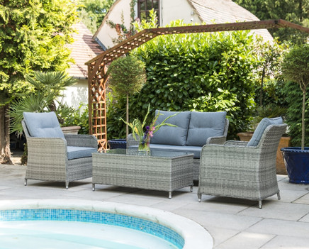 Florence 2 Seat Sofa Set with 2 Armchairs & Coffee Table