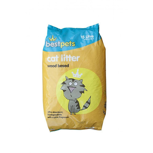 Bestpets Wood Based Cat Litter 15L