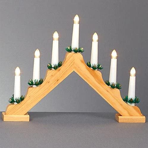 Premier Wooden Candle Bridge 31cm